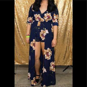 High Low Romper Dress